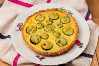 Quiche con zucchine farcite con ricotta e ortaggi