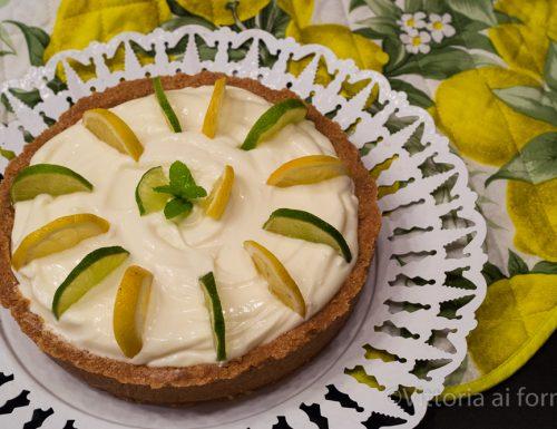 Torta fredda al limone senza cottura, facile e golosa