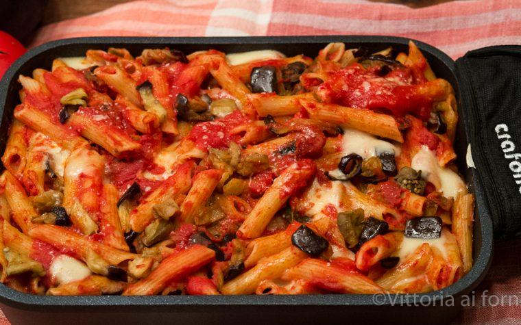 Pasta al forno alla siciliana, cotta sui fornelli