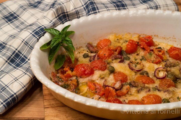 filetti di pesce gratinati alla siciliana