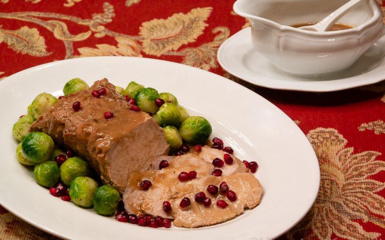 Arrosto alla melagrana, ricetta festiva