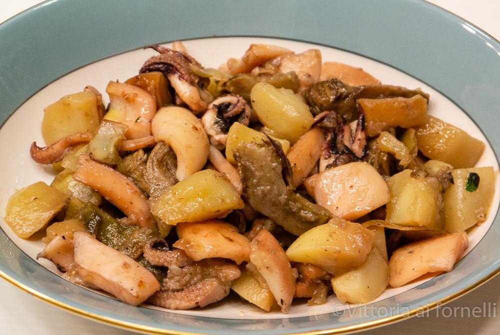 seppie con carciofi e patate