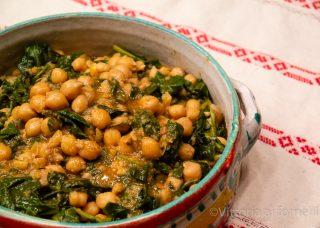 Ceci con spinaci alla sivigliana