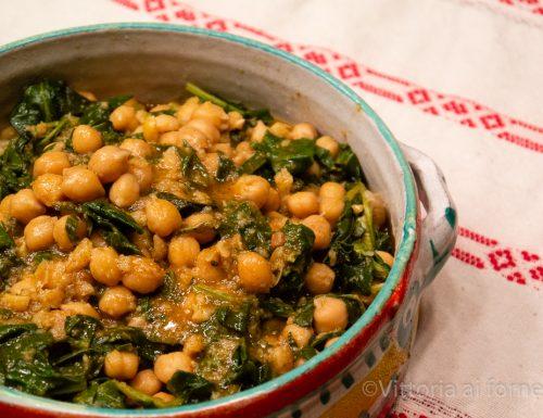 Ceci con spinaci alla sivigliana, stufato tradizionale