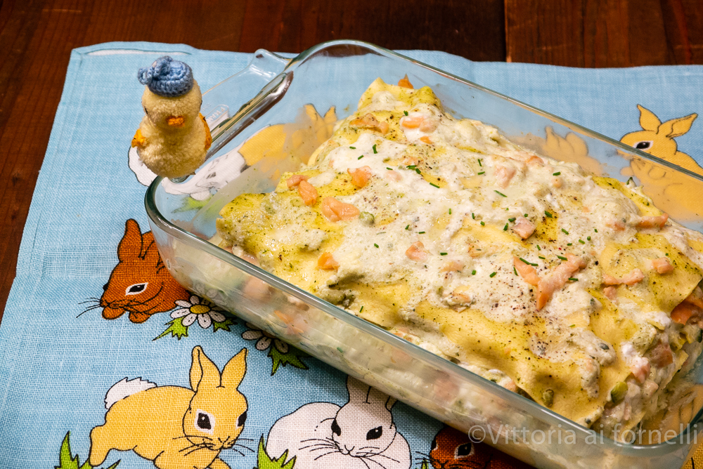 Lasagne al salmone affumicato con zucchine e robiola