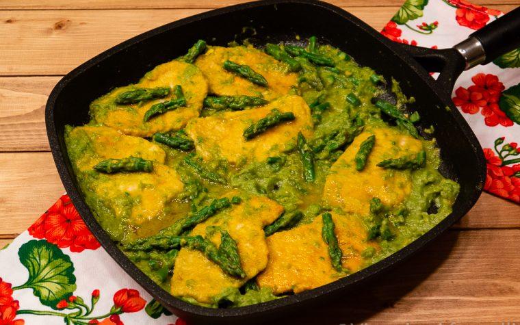 Scaloppine agli asparagi, cremose, gustose, delicate