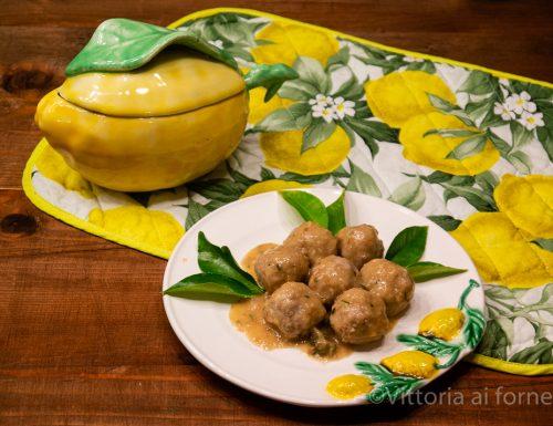 Polpettine con capperi, limone e zenzero
