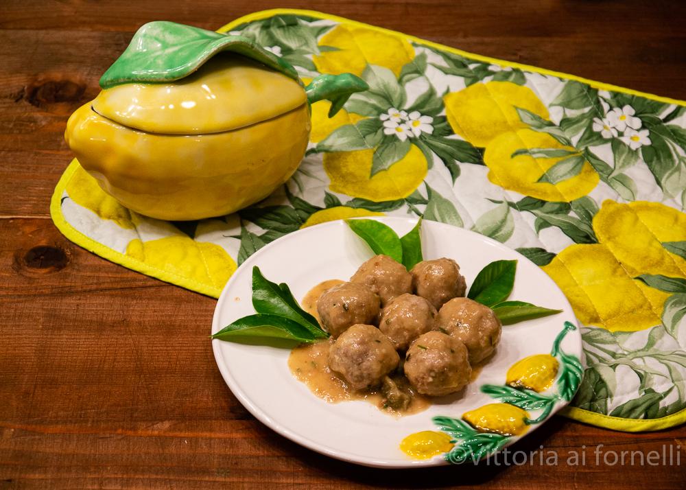 Polpettine con capperi e limone