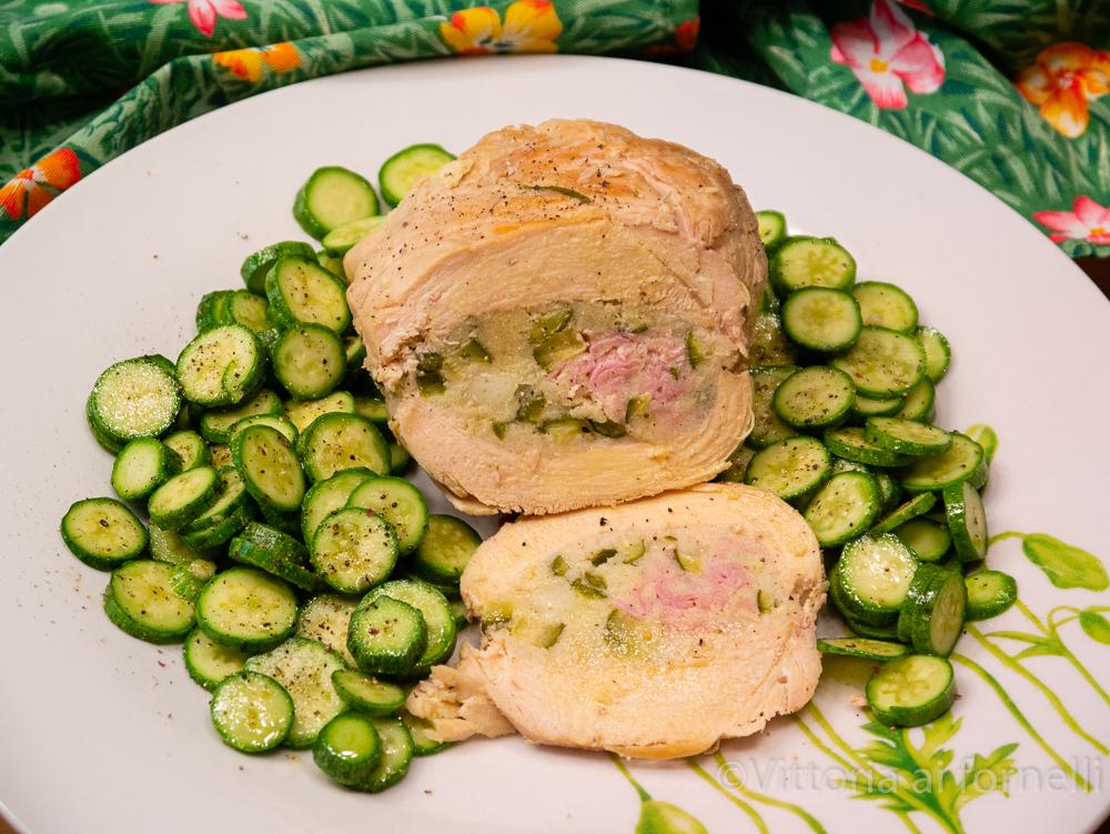 tasche di pollo ripiene con zucchine