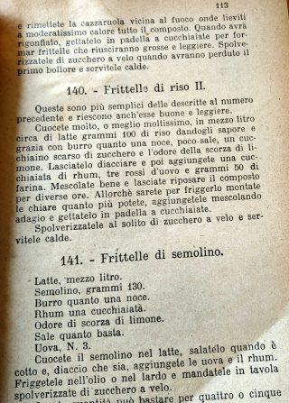Frittelle di riso - Artusi