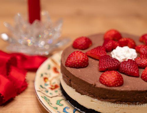Cheesecake al doppio cioccolato senza cottura, dolce goloso
