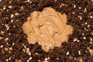 sbriciolata al caffè e cioccolato senza cottura