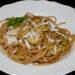spaghetti con la zucchina fritta