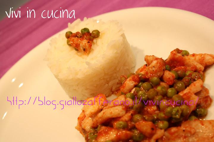 Filetti di sogliola con piselli e riso basmati vivi in for Cucinare sogliola