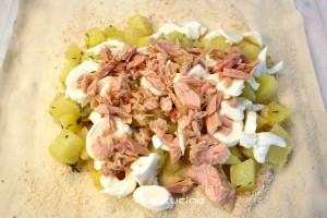 sfoglia patate tonno e mozzarella