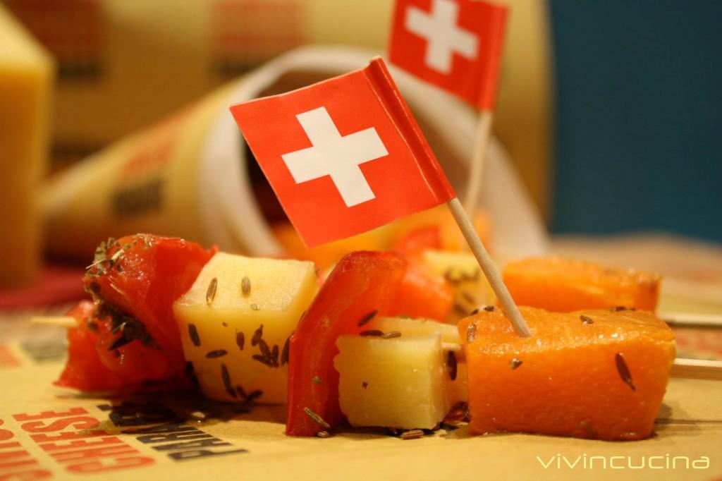 spiedini sbrinz e verdure