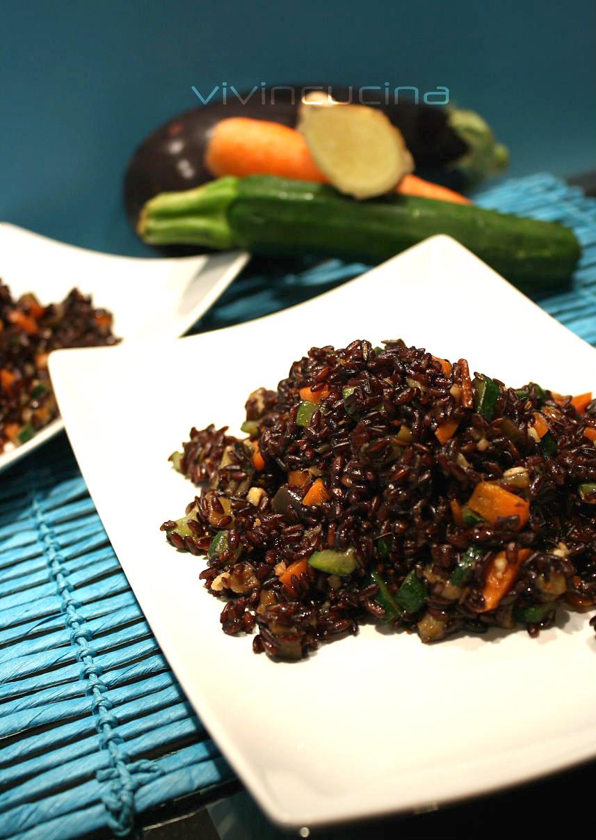 Riso venere e verdure ricetta vegana for Cucinare riso venere