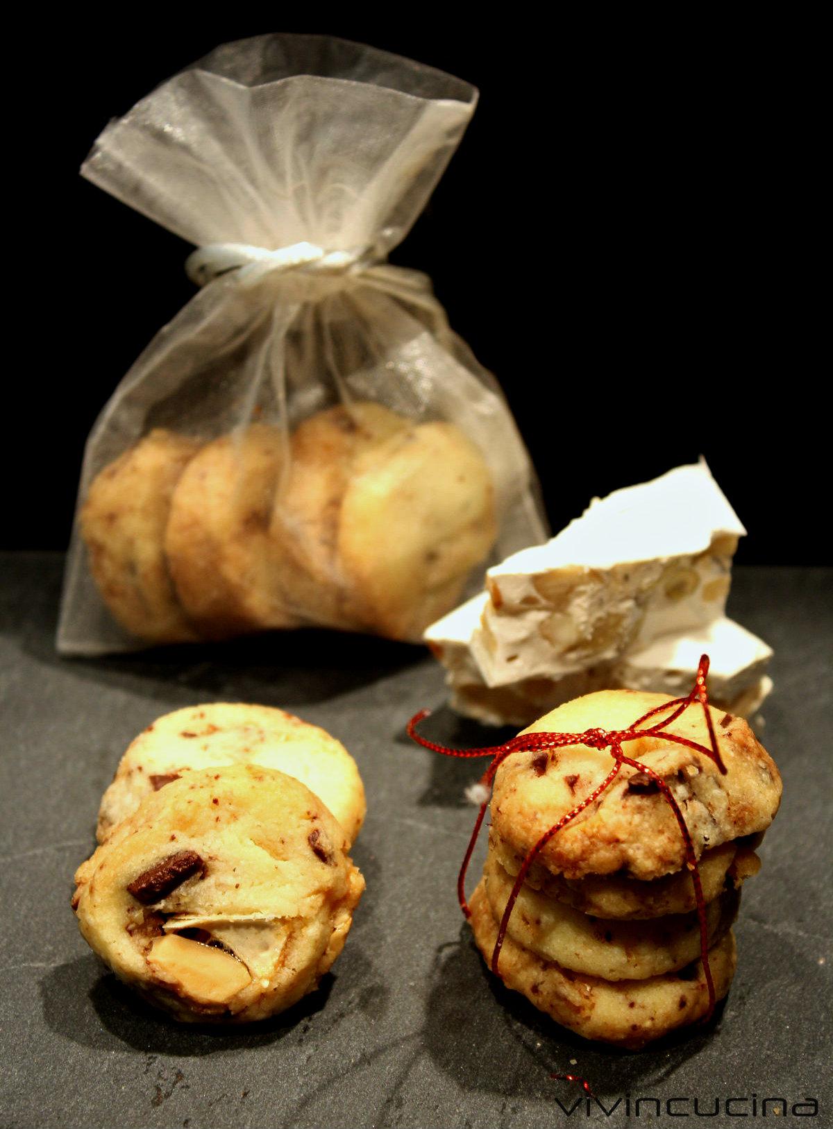 biscotti torrone e cioccolato
