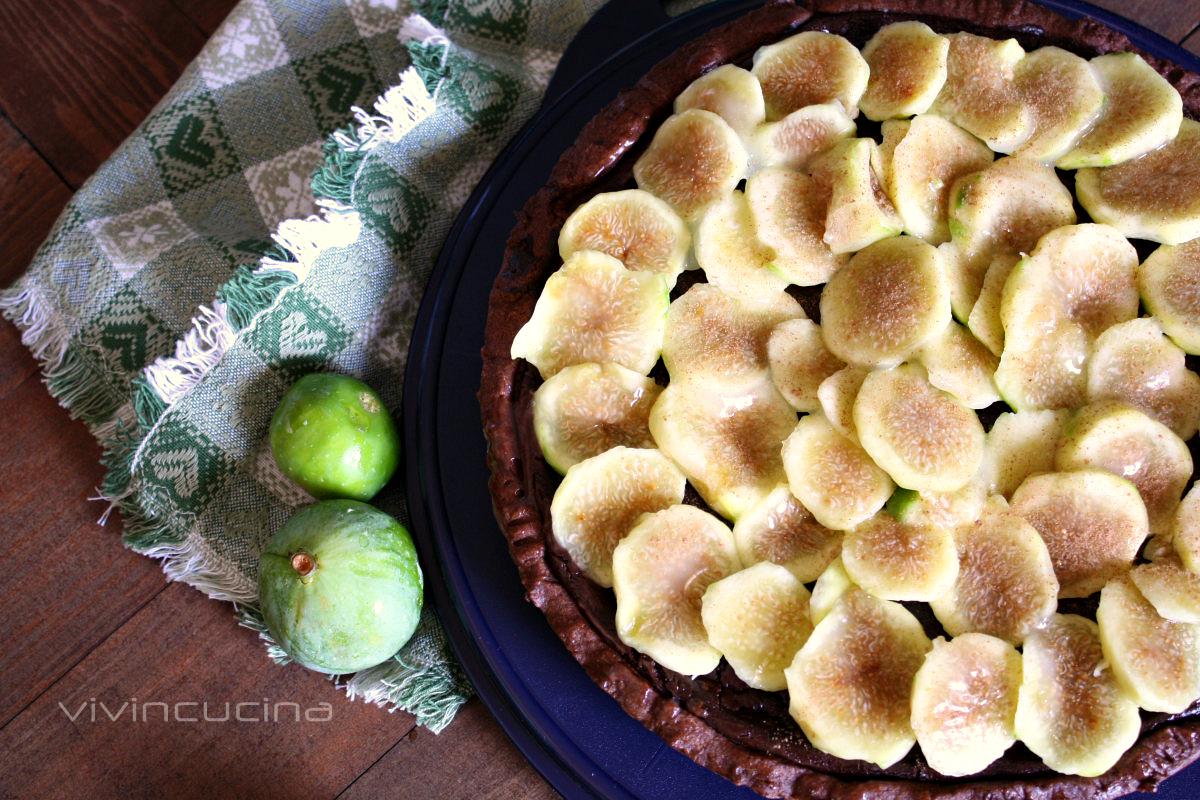 crostata al cacao con fichi