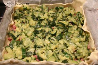 Torta salata zucchine cotechino