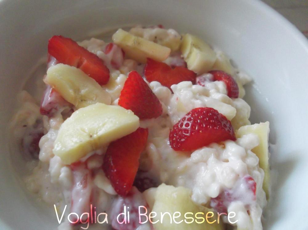 Preferenza Yogurt con riso soffiato e frutta   Voglia Di Benessere UW73