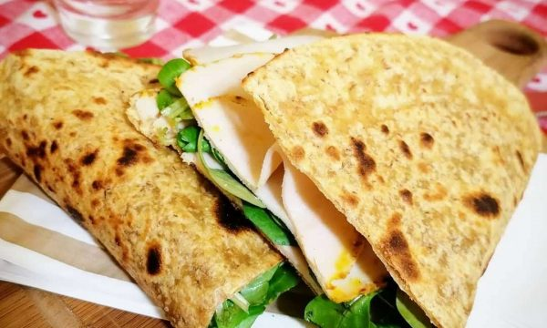 Piadina light alla curcuma