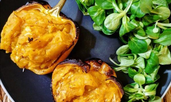Peperone ripieno di tonno e patate