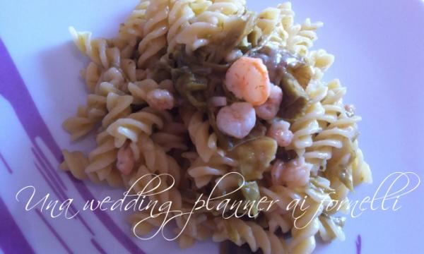Delicatezza in tavola – Fusilli con gamberi, peperoncini verdi e salsa al limone