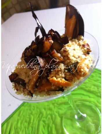 Un piatto orientale dai sapori estivi : insalatina tiepida di cous cous