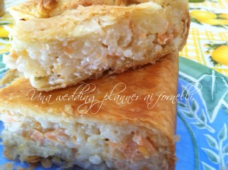 risotto al salmone in crosta