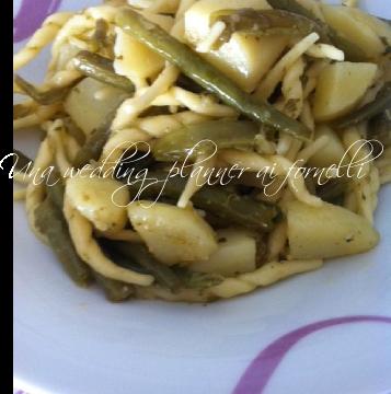 Trofie patate e fagiolini  – la versione di una wedding planner