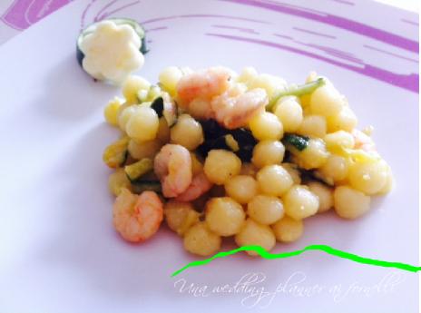 Gnocchetti gamberetti e zucchine