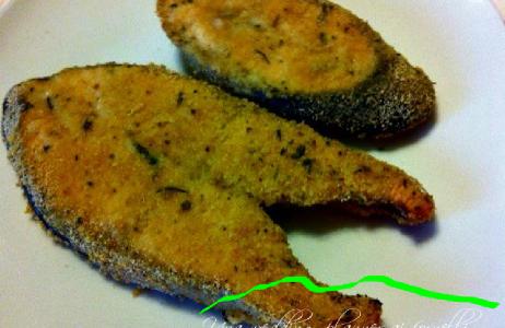 Filetto di salmone impanato