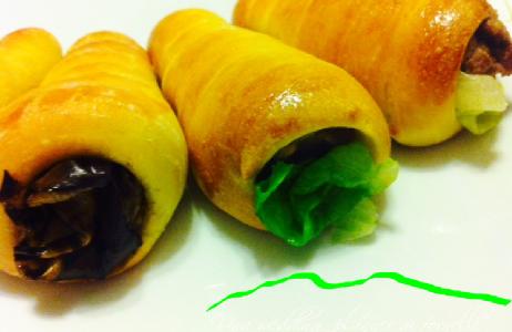 Conetti di pasta brioche ripieni –  Foto step by step