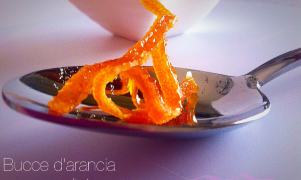 Bucce d'arancia caramellate