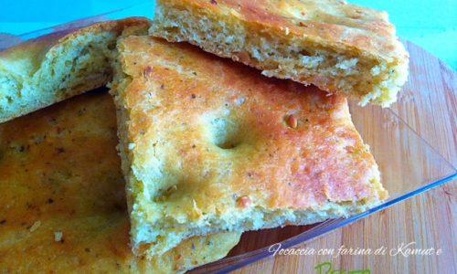 Focaccia con farina di Kamut e pesto