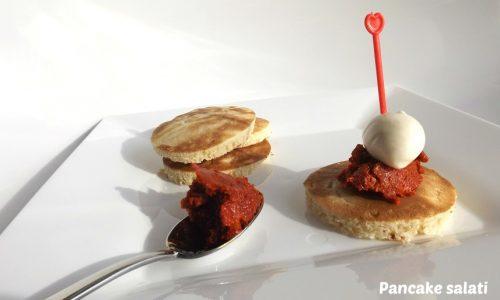 Pancake salati con mozzarella e 'nduja