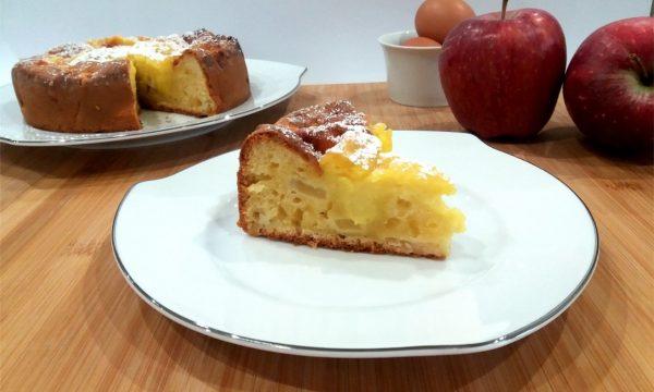 Torta di mele e crema pasticciera