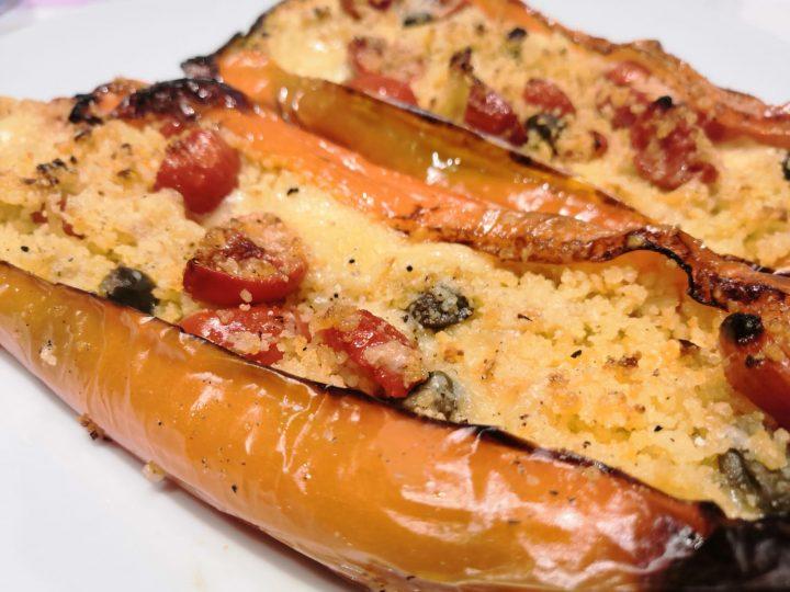 Peperoni cornetti ripieni di cous cous