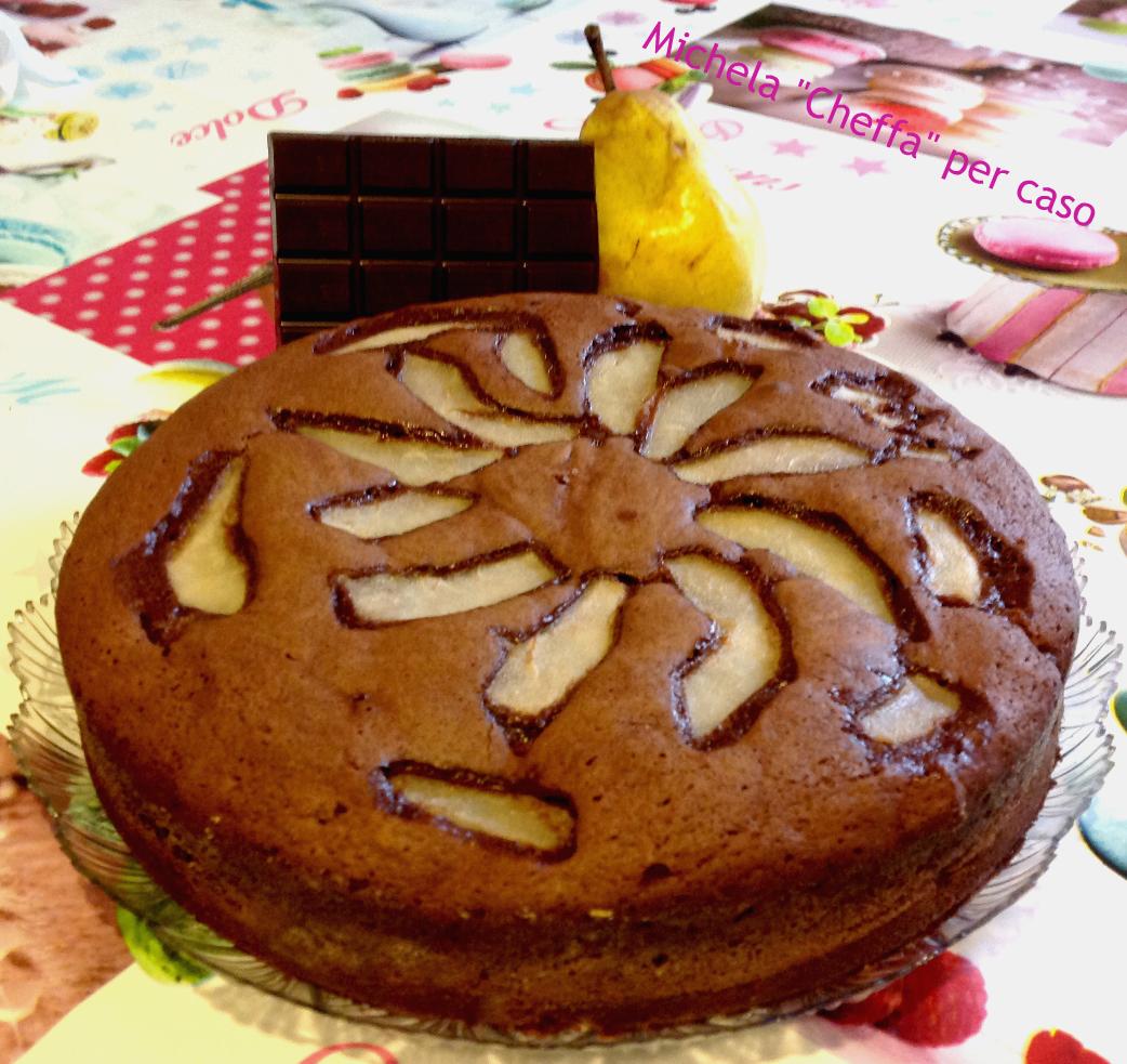 Torta cioccolato e pere senza burro!