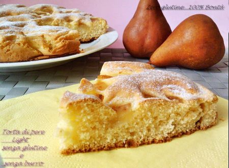 Torta con le pere light (senza glutine e burro)