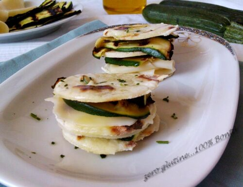 Piadina con zucchine grigliate (ricetta finger food)
