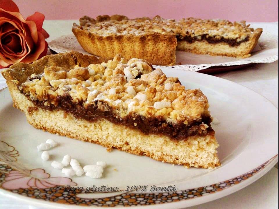 Torta sbrisolona  con nutella e mascarpone
