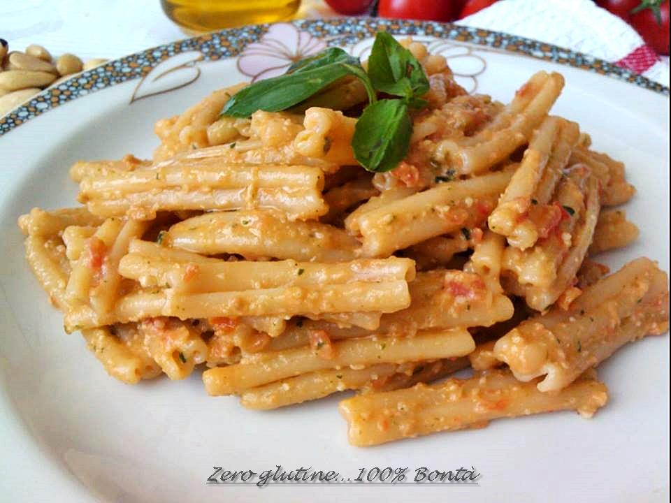 Pasta fredda con pesto alla siciliana mary zero glutine for Primi piatti di pasta