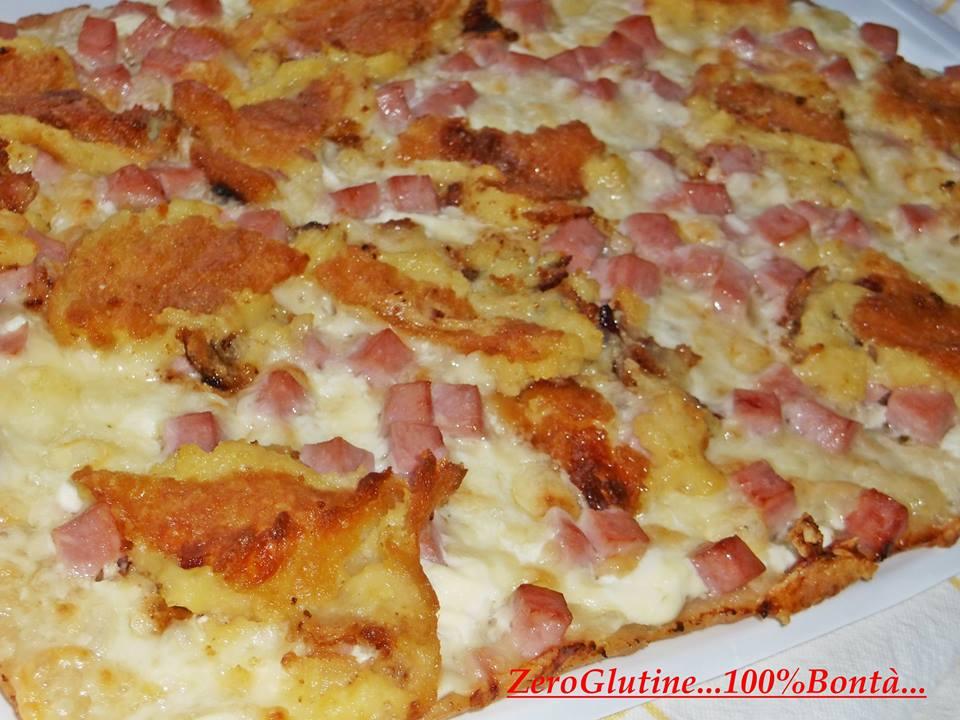 Pizza con crocchette di patate
