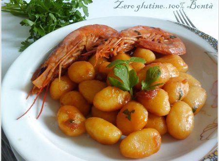 Gnocchi di patate con gamberi