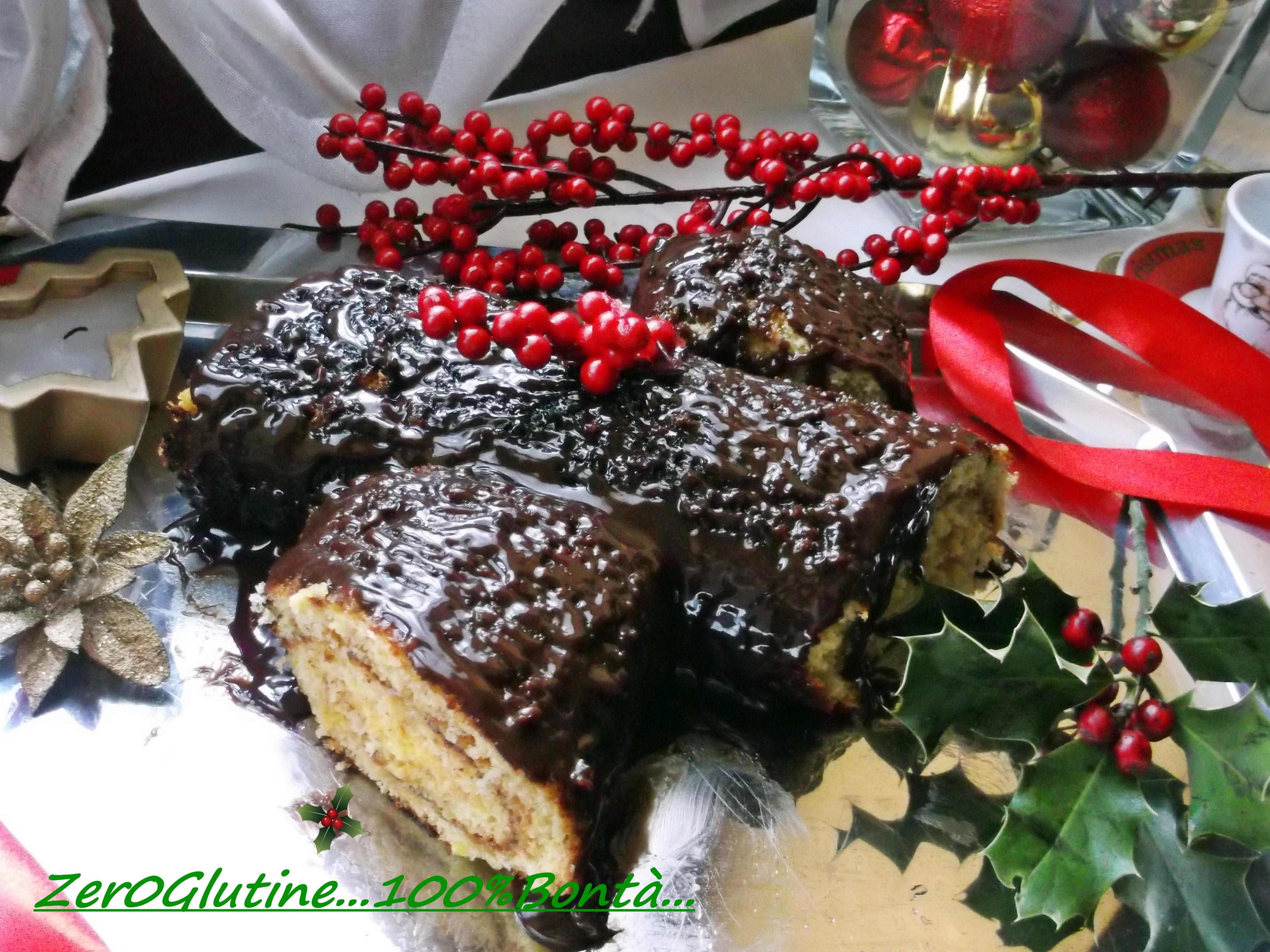 Tronchetto Di Natale Per Celiaci.Tronchetto Di Natale Senza Glutine