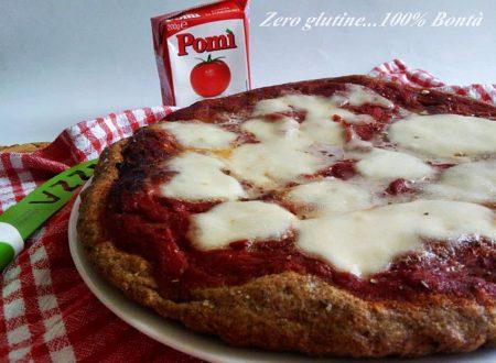 Pizza senza glutine  con farina Brot Mix