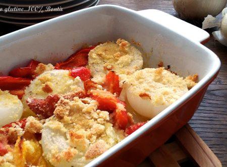 Cipolle e peperoni al forno