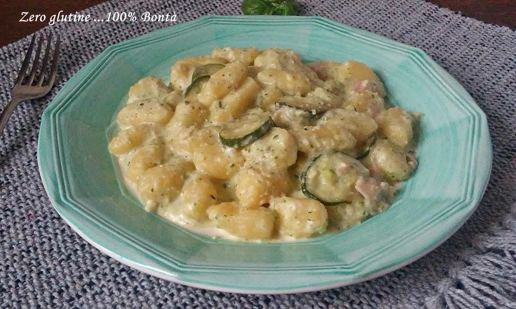 Gnocchi cremosi con zucchine